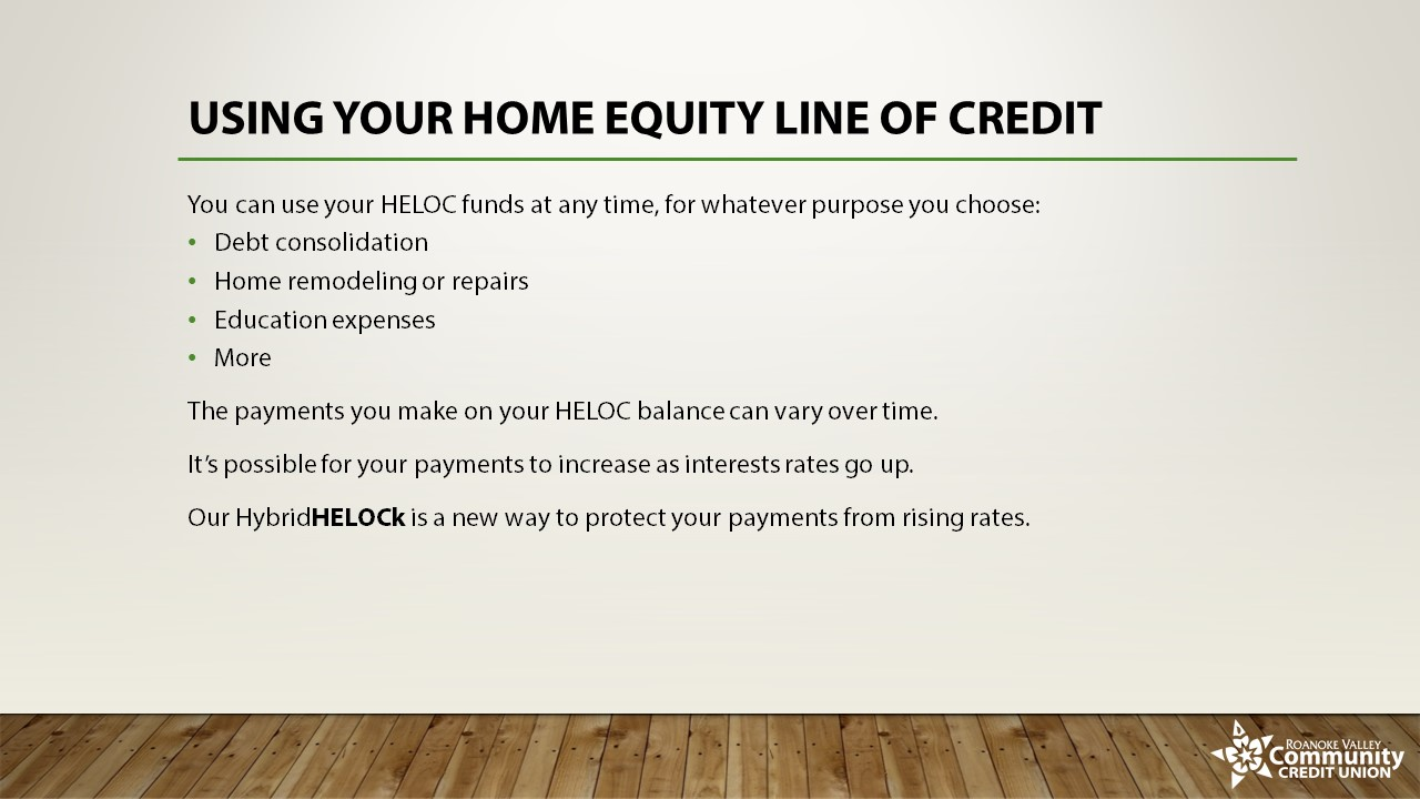Using Your Home Equity Line of Credit